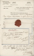 Lettre En Franchise Mention Service Très Pressé Armée Du Rhin Division De Droite Quartier-Gén. Neuf - Brisach An 7/1799 - Storia Postale