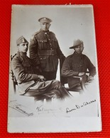 MILITARIA  - ARMEE BELGE  -  Photo De Soldats Belges  (Photographe Frémault - Etterbeek) - Uniformes