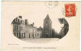 Saint-Valery-sur-Somme / L'Eglise Saint-Martin / Ed. Du Dé D'Argent / Carte Gaufrée - Saint Valery Sur Somme