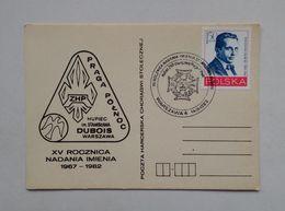 Poland Pologne Polonia Postcard Carte Postale Cartolina Postmark Scout Badges 1982 - Movimiento Scout