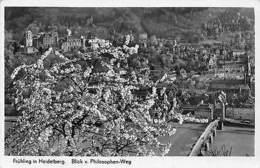 Germany Fruehling In Heidelberg, Blick V. Philosphen-Weg, Bloom Blossom 1940 - Alemania
