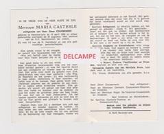 DOODSPRENTJE CASTEELE MARIA ECHTGENOTE COUSSEMENT BEVEREN-LEIE 1896 - 1964  BEWERKT TEGEN KOPIEREN - Devotion Images