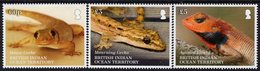 British Indian Ocean Territory - BIOT - 2019 - Lizards Of BIOT - Mint Stamp Set - Britisches Territorium Im Indischen Ozean