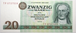Allemagne De L'Est - 20 Mark - 1975 - PICK 29b - NEUF - [ 6] 1949-1990 : RDA - Rep. Dem. Alemana