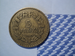 5 FRANCS LAVRILLIER BRONZE ALUMINIUM 1940 - J. 5 Francs