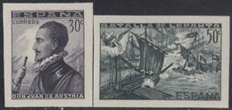 España Spain SH 864/65 1938 Batalla Lepanto Don Juan De Austria MH - Spagna