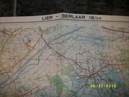 Topografische / Stafkaart Van Lier - Berlaar (Nijlen - Bouwel - Herenthout - Itegem - Bevel) - Cartes Topographiques