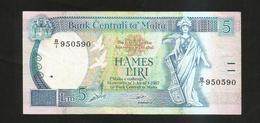 MALTA - CENTRAL BANK Of MALTA - 5 LIRI (1967) - Malta