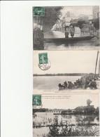 5 CPA:INNONDATION DE LA LOIRE 21 OCTOBRE 1907 IMMENSE TORRENTENFANTS SUR BARQUE QUAI FORT ALLEAUME,TORRENT ROUTE... (45) - Otros Municipios