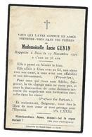 LUCIE GENIN AVIS DE DECES 1859 1935 - Décès