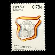 España Spain 4601 2010 América Upaep Símbolos Escudo Bandera, Lujo MHN - Non Classificati