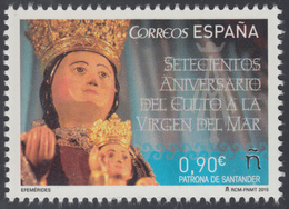 España Spain 4972 2015 700º Aniv. Del Culto A La Virgen Del Mar MNH - Spagna