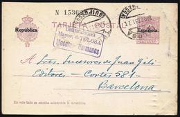 España Spain Entero Postal 61 Alfonso XIII 1931 Tolosa - Spagna