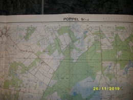 Topografische / Stafkaart Van Poppel (Netersel - Hoge Mierde - Bladel - Meer) - Cartes Topographiques