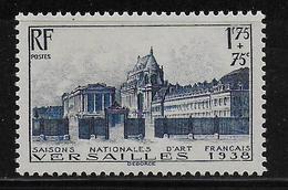 1938 - YVERT N° 379 ** MNH  - COTE = 45 EUR. - - France