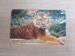 SMRT Metro Single Trip Ticket Card, Tiger - Singapur