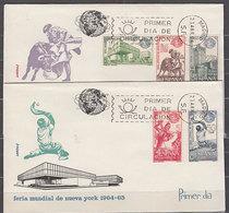 España Spain 1590/94 1964 Feria Mundial Nueva York SPD Sobres Primer Día - Spanje