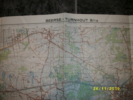 Topografische / Stafkaart Van Beerse - Turnhout (Merksplas - Vosselaar - Vlimmeren) - Cartes Topographiques