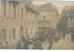 Lozere : Mende, Rue De La Banque, Jour De Foire, Belle Carte Photo... RARE - Mende
