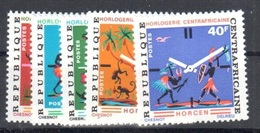 Central African Republic Mnh ** Very Fine 3.2 Euros Local Watch Industry - Central African Republic
