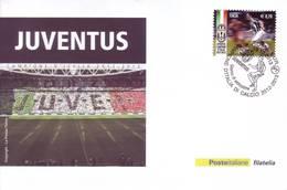 Italia 2013 - Juventus Campione, Su Cartoline Affrancata E Con Annullo Speciale - Club Mitici
