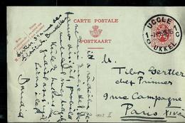Carte N° 102. I. FN.   Obl.  UCCLE 1C UKKEL  Du 07/09/35 - Postcards [1909-34]