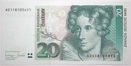 Allemagne De L'Ouest - 20 Deutsche Mark - 1993 - PICK 39b - NEUF - [ 7] 1949-… : RFA - Rep. Fed. Tedesca