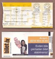 AC -  FENERBAHCE Vs PANATHINAIKOS FOOTBALL - SOCCER TICKET 31 OCTOBER 2002 - Tickets - Entradas
