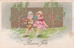 Bonne Fêtes - Enfants. Rubans. Dorures - Série BEGRO  N° 9088 (lot Pat 90 - Illustrateurs & Photographes