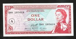 CARAIBI - EAST CARIBBEAN CURRENCY AUTHORITY - ONE DOLLAR  / Queen Elizabeth II - Caribes Orientales