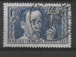 1938 - YVERT N° 385 OBLITERE SUP ! - PASTEUR - France