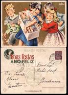 1945 Christmas Portugal Used Stationery. Inteiro/Entier Postal Noel. Boas Festas Natal #84. Children Toys. - Postal Stationery