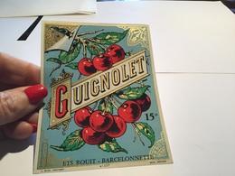Étiquettes Guignolet L 04  Barcelonnette - Etiquettes