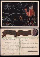 1943 Christmas Portugal Used Stationery. Inteiro/Entier Postal Noel. Boas Festas Natal #65. Kings. Star. Camels - Postal Stationery