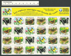 B56-27 CANADA Canadian Wildlife Federation Nature Seals Sheet 1994 MNH - Local, Strike, Seals & Cinderellas