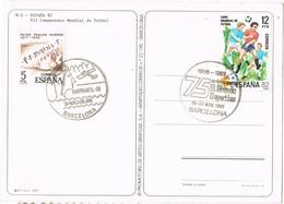 34774. Postal BARCELONA 1981. Barnafil, Montañas Montserrat. 75 Años Mundo Deportivo. FUTBOL - 1931-Hoy: 2ª República - ... Juan Carlos I