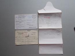 Marcophilie - Lettre Enveloppe Obliteration - Lot 3 Documents Prisonniers Guerre WW1 WW2 (2576) - Marcophilie (Lettres)