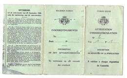 Congo Belge (1954) - Documents Historiques