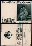1939 Christmas Portugal Used Stationery. Inteiro/Entier Postal Noel. Boas Festas Natal #22. Painting Artist's Children - Postal Stationery