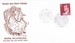 34775. Carta Exposicion NULES (Castellon) 1984. Archivo Historico. Musica - 1931-Hoy: 2ª República - ... Juan Carlos I