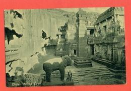 INDIA  -  ELLORA - KAILAS - CAVE - ELEFANT - India
