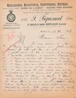 03 MONTLUCON COURRIER 1907 Horlogerie Bijouterie Orfèvrerie   Bijoux Or PIQUEMAL - X59 Allier - 1900 – 1949