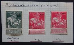 BELGIE   1910-11  Caritas    Nr. 91 - V1 /  Nr. 99 -  2 X V 2   'Variëteiten'   Zie Foto    Scharnier * - 1910-1911 Caritas