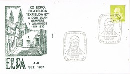 34776. Carta Exposicion ELDA (Alicante) 1987. Exfielda 87. JUAN SEMPERE I GUARINOS, Politico - 1931-Hoy: 2ª República - ... Juan Carlos I