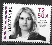 SLOVAKIA, 2019, MNH, PRESIDENTS, POLITICIANS, LAWYERS, SLOVAK PRESIDENT, ZUZANA ČAPUTOVÁ, 1v - Otros