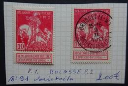 BELGIE   1910  Caritas   Nr. 91     'Variëteiten  Balasse'    V1 En V 2    Zie Foto - 1910-1911 Caritas