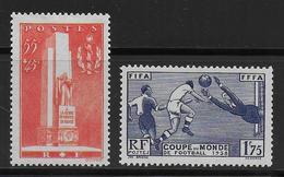 1938 - YVERT N° 395/396 * MLH  - COTE = 28 EUR. - - Frankreich