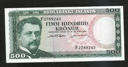 ISLANDA - NATIONAL BANK - 500 KRONUR (1961) - Islanda