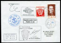 15753 T.A.A.F N°324,454° Premier Voyage Aux Terres Australes Du Préfet Eric Pilloton  Kerguelen  Du 28.8.2007   TB - Cartas
