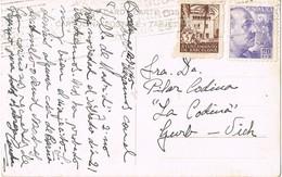 34780. Postal BARCELONA 1945. Recargo Exposicion. Patio De Finca De TENERIFE, Canarias - Barcelona